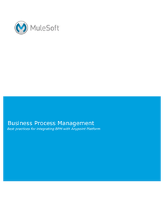 Business Process Management: Best Practices for integrating BPM with Anypoint Platform