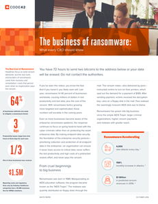 The Business of Ransomware: What every CXO should know