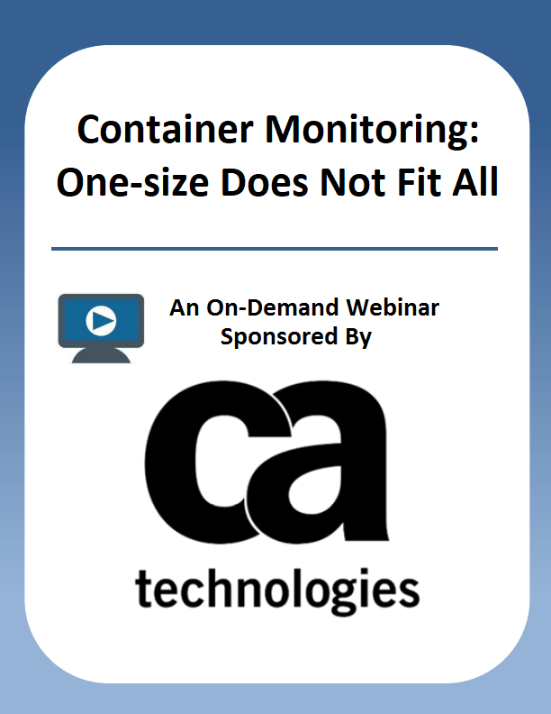 Container Monitoring: One-size Does Not Fit All