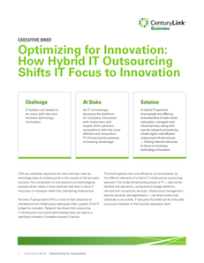 Optimizing for Innovation: How Hybrid IT Outsourcing Shifts IT Focus to Innovation