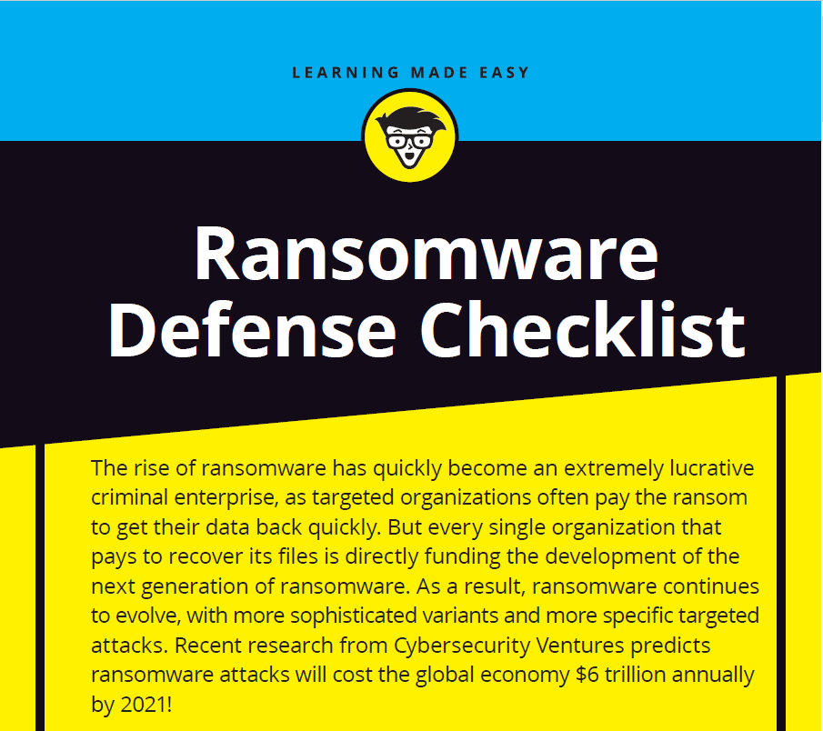 Ransomware Defense for Dummies Checklist- 2nd Edition