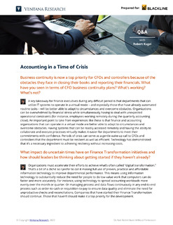 Accounting in a Time of Crisis