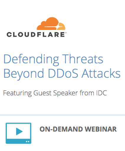 Defending Threats Beyond DDoS Attacks: Featuring Guest Speaker from IDC