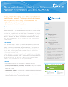 Concur Instantly Improved Global Application Performance and Expand into New Markets