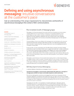 Defining and Using Asynchronous Messaging