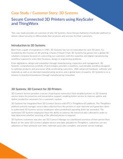 Secure Connected 3D Printers using KeyScaler and ThingWorx