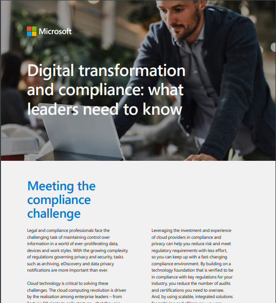 Digital Transformation and Compliance: What Leaders Need to Know