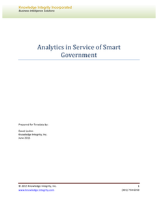 Analytics in Service of Smart Government