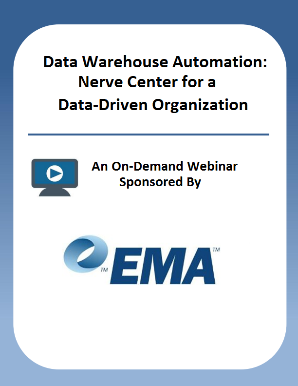 Data Warehouse Automation: Nerve Center for a Data-Driven Organization