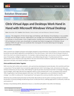 Citrix Virtual Apps and Desktops is the best way to manage Windows Virtual Desktop