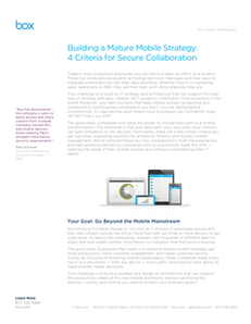 Empowering Your Mobile Workers – 4 Criteria for Secure Collaboration