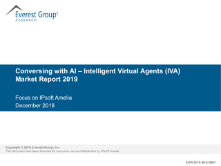 Conversing with AI – Intelligent Virtual Agents (IVA) Market Report 2019