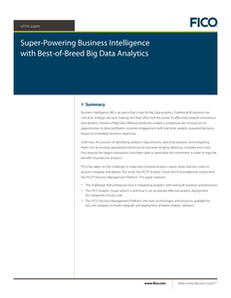Super-Powering Business Intelligence with Best-of-Breed Big Data Analytics