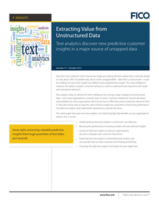 Extracting Value from Unstructured Data