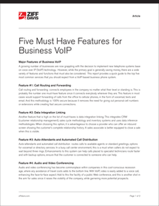 Five Must-Have Features for Business VoIP System