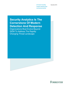 Forrester Report: Security Analytics is the Cornerstone of Modern Detection and Response