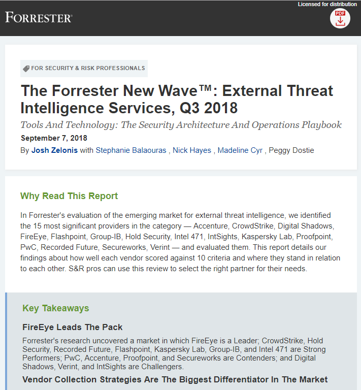 FireEye Named the Leader in External Threat Intelligence Services