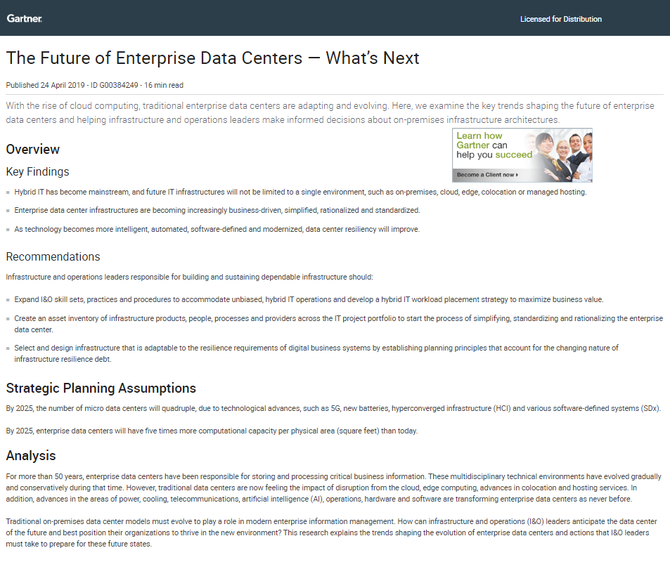 The Future of Enterprise Data Centers – What's Next