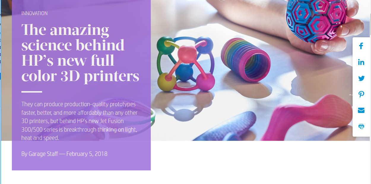 Get the inside story on how HP scientists revolutionized 3D printing