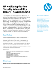 HP Global 2000 Mobile Risk Report