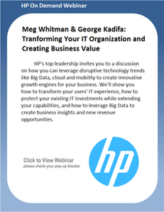 Webinar: Transforming Your IT Organization and Creating Business Value