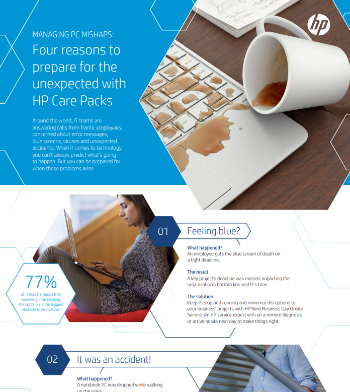 Managing PC Mishaps: Four Reasons to Prepare for the Unexpected with HP Care Packs