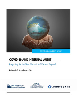 COVID-19 and Internal Audit: Preparing for the New Normal in 2020 and Beyond