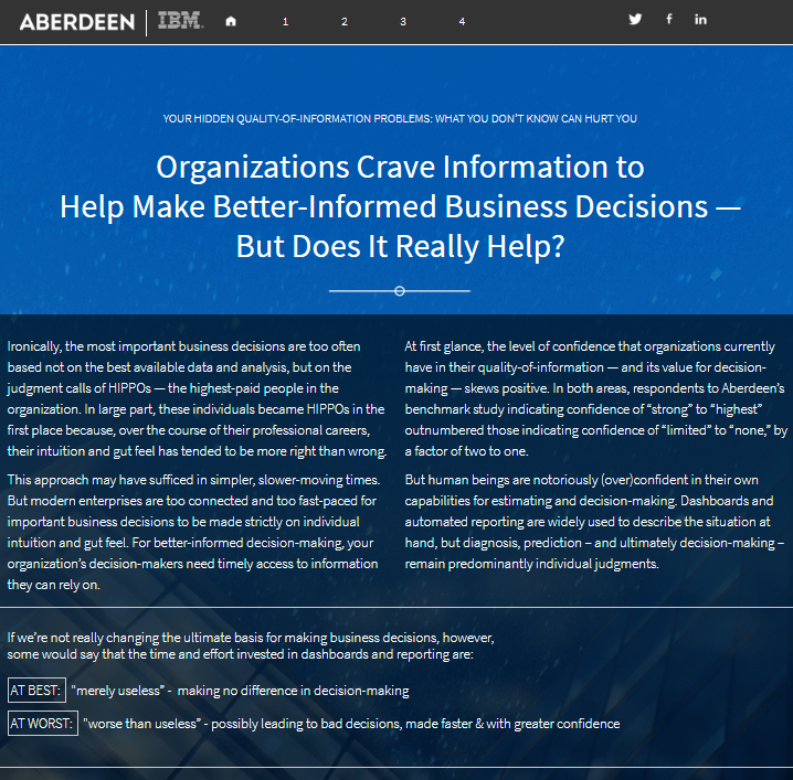 Organizations Crave Information to Help Make Better-Informed Business Decisions – But Does It Really Help?