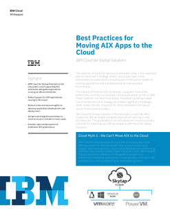 Best Practices for Moving AIX Apps to the Cloud