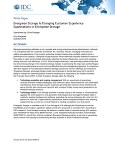 Evergreen Storage Is Changing Customer Experience Expectations in Enterprise Storage