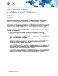 SD-WAN: Guidance on WAN Transformation