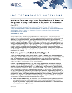 IDC Report: Modern Defense Against Sophisticated Attacks Requires Comprehensive Endpoint Protection