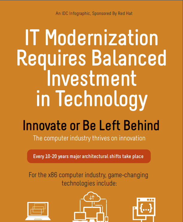 IDC: IT Modernization Requires Balanced Investment in Technology
