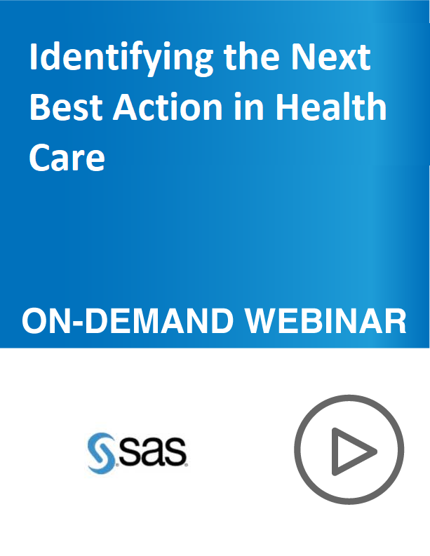 Identifying the Next Best Action in Health Care