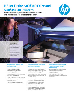 Learn how HP Jet Fusion technology makes 3D printing compact, colorful and cost-effective