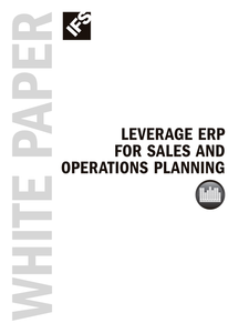 Leverage ERP for Sales and Operation Planning