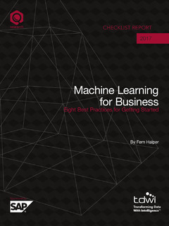 Machine Learning for Business: Eight Best Practices for Getting Started