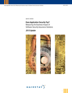 Does Application Security Pay? Measuring the Business Impact of Software Security Assurance Solutions