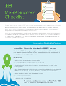 Managed Security Service Provider (MSSP) Success Checklist