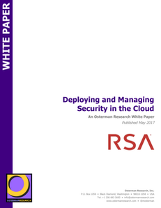 Osterman Research: Deploying and Managing Security in the Cloud