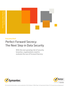 Perfect Forward Secrecy – The Next Step in Data Security