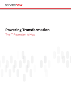 Powering Transformation  The IT Revolution Is Now