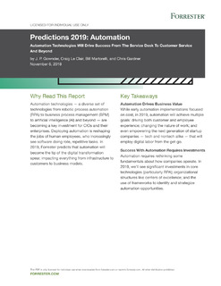 Predictions 2019: Automation