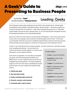 A Geek's Guide to Presenting to Business People