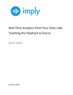Real-Time Analytics from Your Data Lake Teaching the Elephant to Dance