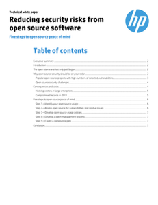 Reducing Security Risks from Open Source
