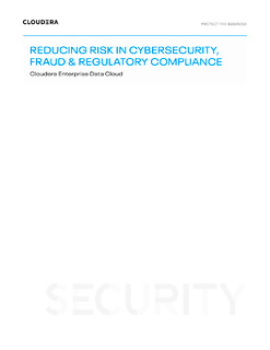 Reducing Risk in Cybersecurity, Fraud & Regulatory Compliance