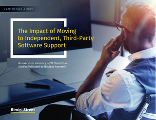 The Impact of Moving to Independent, Third-Party Software Support