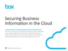 Securing Business Info in the Cloud eBook