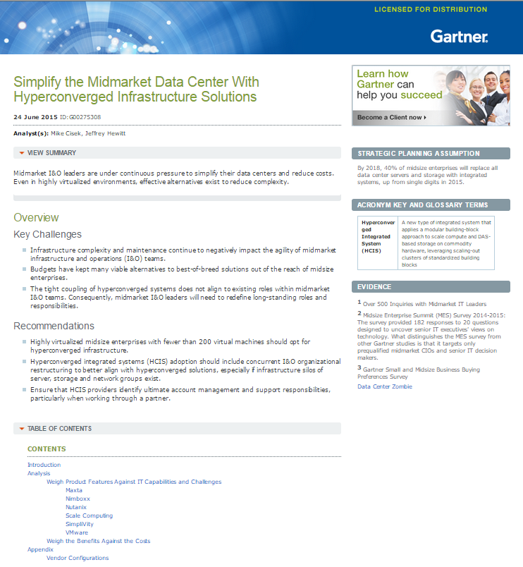 Simplify the Midmarket Data Center with Hyperconverged Infrastructure Solutions